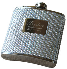 Personalized Silver Bling Flask