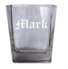 Personalized Square Rocks Glass Tumbler