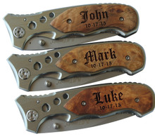Personalized Pocket Knife with Metal Blade