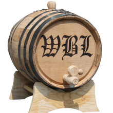 Personalized 3 Liter Mini-Oak Whiskey Barrel