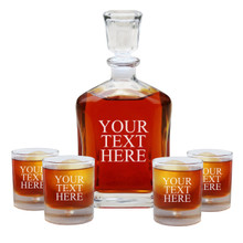 Personalized Custom Engraved Whiskey Decanter Set
