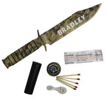 Personalized Rambo Camo Survival Knife