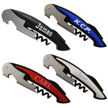 Engraved Premium Bottle Opener Corkscrew Combo