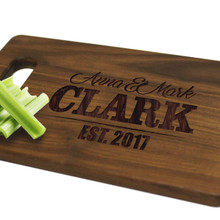 Engraved Walnut Cutting Board