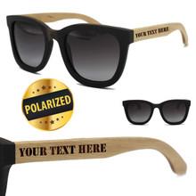Custom Engraved Wood Polarized Sunglasses