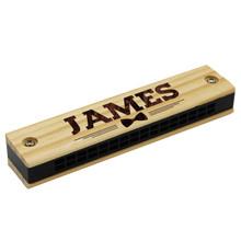 Custom Engraved Wood Harmonica