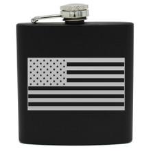 Engraved Flag Flask