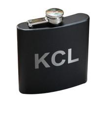 Personalized Black Matte Flask