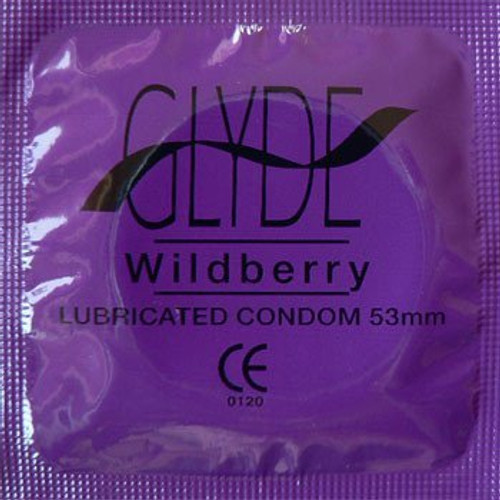 Glyde Flavors Wildberry (53mm) per 20 condoms