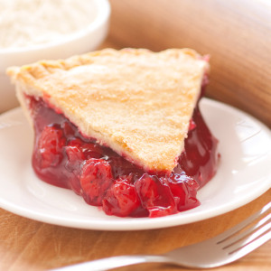 Just the right blend of sweet and tangy, our cherry pie is made with tart, ripe sour cherries. No artificial flavorings and colorings are used. Our double-crusted fruit pies are lightly brushed with butter and sprinkled with sugar to brown the crust. Pies will arrive pre-baked and frozen in an insulated shipping cooler. Simply thaw in the oven and your home will be filled with the sweet scent of our Amish bakery. Instructions are included. Baked and shipped from Ohio's Amish County.   We do not use high-fructose corn syrup to make our fruit pie fillings.   Available as a 9 inch pie.