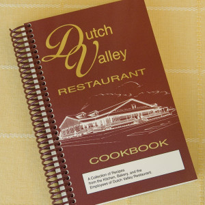 Published in 1995 as a sequel to the first Dutch Valley Cookbook, these recipes were submitted by the employees of the popular Sugarcreek restaurant. YouÕll find traditional recipes such as Baked Oatmeal, Soft Pretzels, Broccoli Salad, and Chicken Pot Pie, as well as more modern recipes like Yum Yum Bars, Twinkies, Stromboli and Carmel Fruit Dip.  288 pages. A great stuffer for your Amish Gift Baskets!