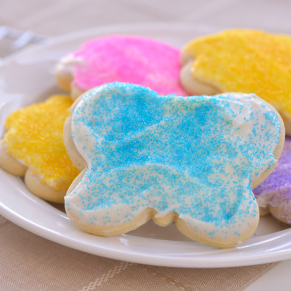 Our Der Dutchman cut-out cookies are soft, sweet and made from scratch. Our cut out sugar cookies are decorated with colorful sugar sprinkles topping a delicious cream cheese icing. Baked and shipped the same day, these buttery cookies will make you the most popular person in your house or office. Order plenty to share -  they disappear quickly!  Homemade in Ohio's Amish Country.