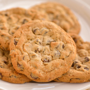 A classic cookie - who doesn't love chocolate chips? Packed with milk chocolate chips in a soft yet solid cookie. Our Amish bakers have a secret for making thick and rich cookies; no flat-as-a-pancake cookies here. Available with walnuts or without.