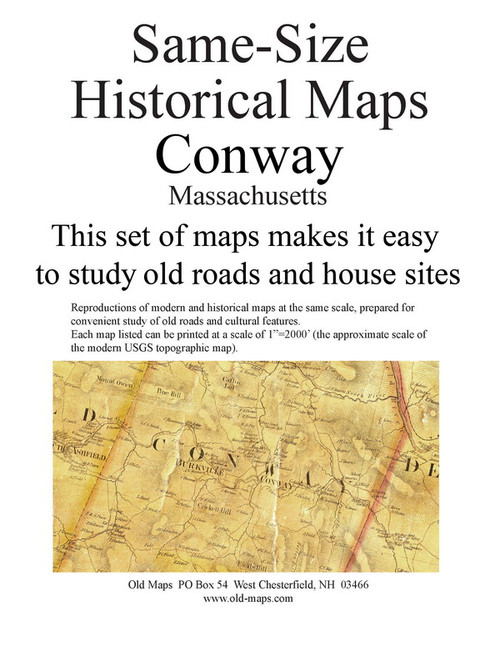Set of 24 same size Historical Maps - Conway MA