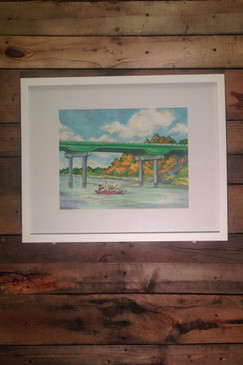 Oconee River at Milledgeville Print