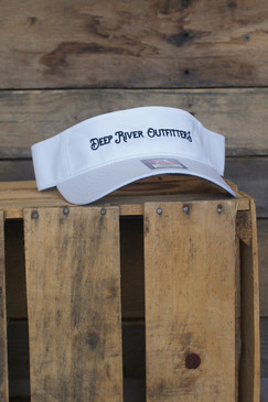 Deep River Outfitters Performance Visor in black.