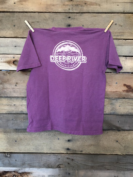 Deep River YOUTH Logo short sleeve tee in Comfort Colors Berry.