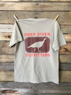 Deep River Turkey Short Sleeve Tee in Comfort Colors Khaki.