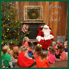 Cookies With Santa: Saturday, Dec. 9 at 10am & 4pm at Deep Rivers Outfitters in Downtown Tennille. RESERVATIONS ARE REQUIRED!