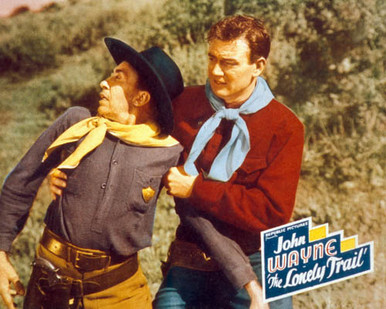 John Wayne in The Lonely Trail Poster and Photo