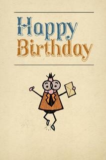 B-031  Happy Birthday - Facebook/Folded Paper