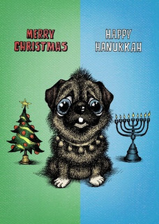 #109a-8  (Box of 8) Merry Xmas/Happy Hanukkah  (Smaller Version)