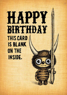 #157  Happy Birthday. - This card is blank on the inside.