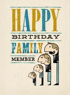 B 011 Happy Birthday Family Member Bald Guy Greetings Happy Birthday Wishes Family Member