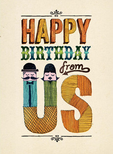 B-002  Happy Birthday from Us