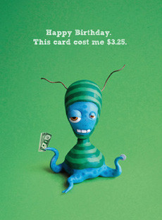 #148  Happy Birthday. This card cost me $3.25.