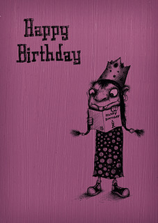 #059  Happy Birthday -  Are you reading this card?