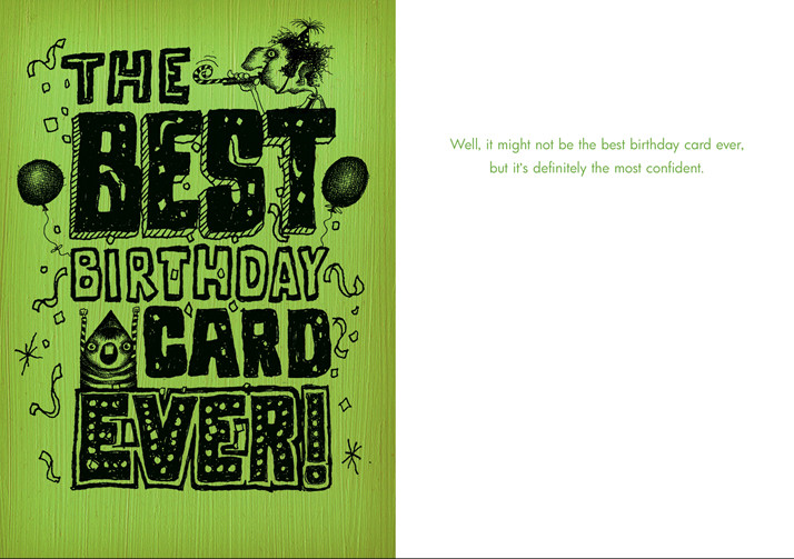 048 The Best Birthday Card Ever Most Confident Bald Guy Greetings