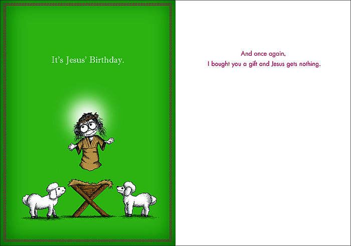 024a 8 Box Of 8 Its Jesus Birthday Cards Smaller Version