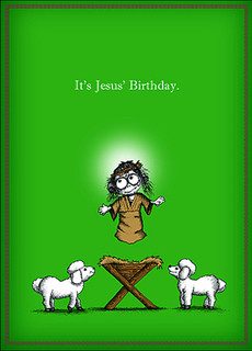 #024a-8  (Box of 8) It's Jesus' Birthday cards (Smaller Version)