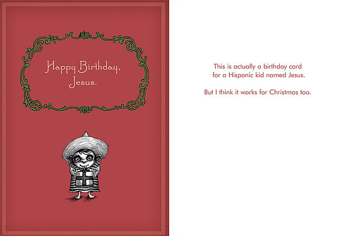 Holiday Cards Bald Guy Greetings – Racist Birthday Cards