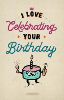 B-051 I love celebrating your birthday