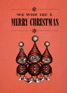 #190a-8  (Box of 8) I wish you a Merry Christmas (Smaller Version)