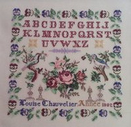 CHART PACK FRENCH SAMPLER LOUISE CHAUVELIER 1882