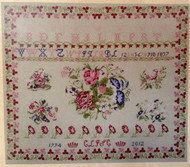 CHART PACK FRENCH SAMPLER ROSES ET VOLUBILIS 1857