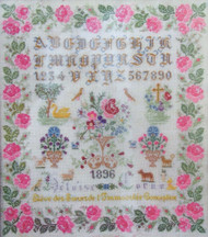 CHART PACK ANTIQUE FRENCH SAMPLER HELOISE CORNU 1896