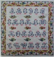 CHART PACK ANTIQUE FRENCH SAMPLER FLORAL ALPHABET