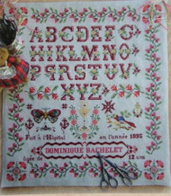 CHART PACK ANTIQUE FRENCH SAMPLER Dominique Bachelet
