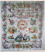 CHART PACK ANTIQUE FRENCH SAMPLER Anais Curveur 1896
