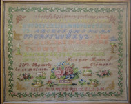 CHART PATTERN BOOKLET FRENCH SAMPLER Marie-T. Clement 1868