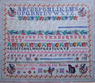 CHART PACK FRENCH SAMPLER Maria Alice 1889