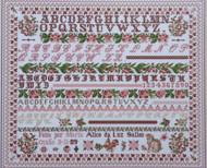 CHART PACK FRENCH SAMPLER (PASTEL VERSION) Maria Alice 1889