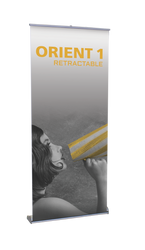 """Orient Retractable Banner Stand 35.5""""wide"""