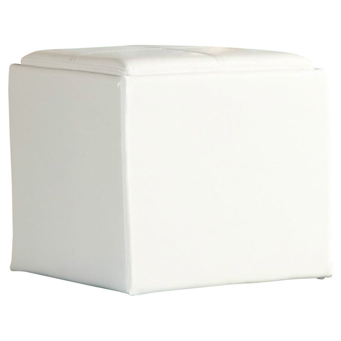 white leather cube storage ottoman las vegas tradeshow production. Black Bedroom Furniture Sets. Home Design Ideas