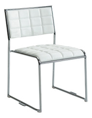 White stackable chair