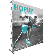 HOPUP 10FT STRAIGHT FULL HEIGHT TENSION FABRIC DISPLAY 4 x 4